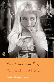 Book cover with spooky girl eating a cookie
