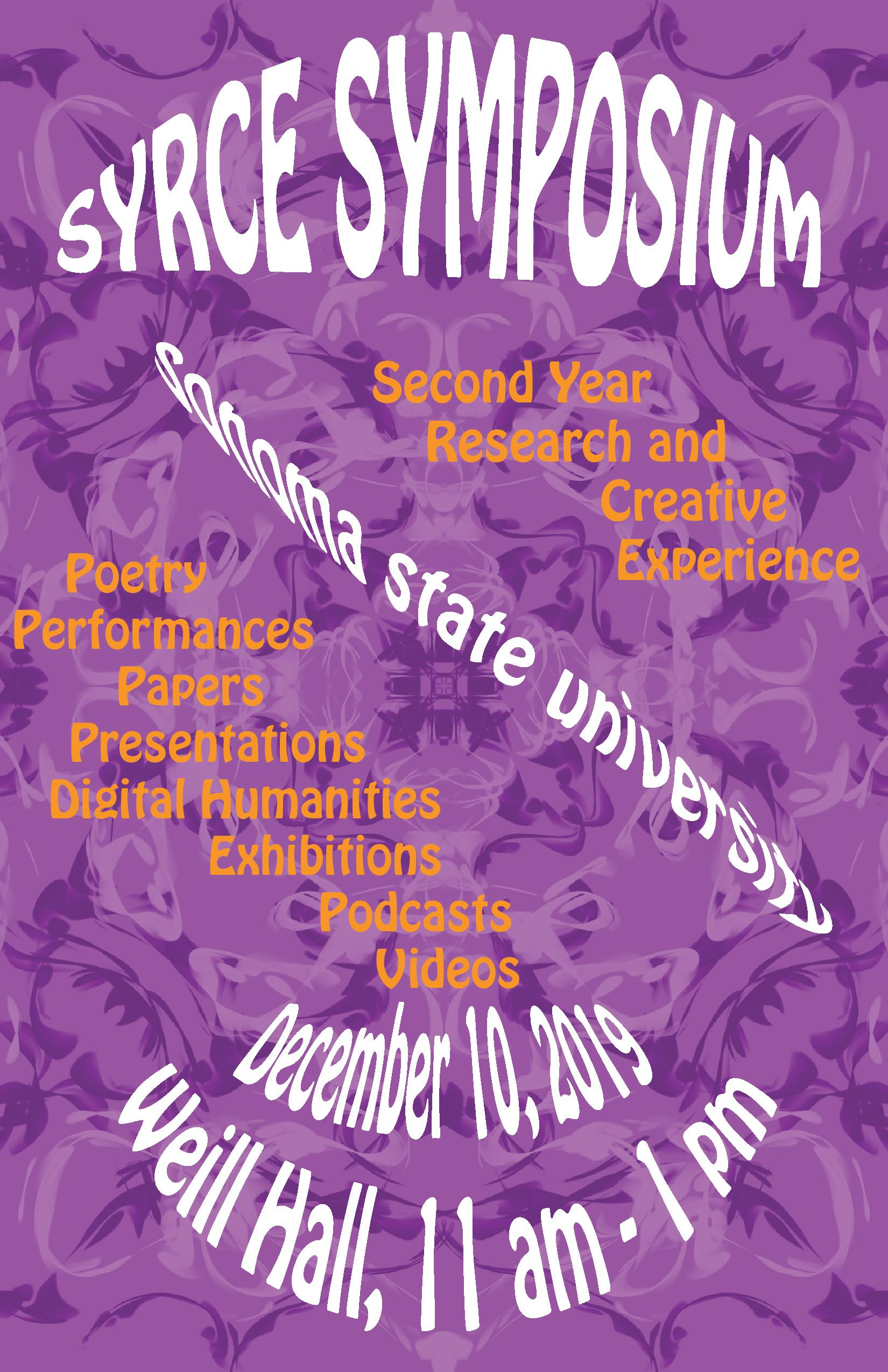 SYRCE Poster Fall 2019 - click to zoom