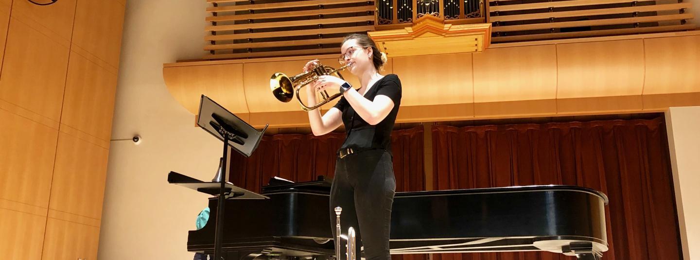 Student on Trumpet